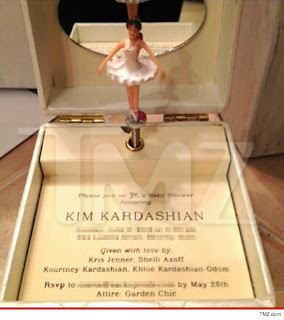 Kim Kardashian Baby Shower Party Invitation