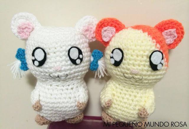 #657 Patrón de Amigurumi Hamtaro y Lasitos a Crochet