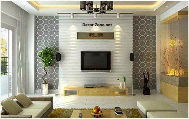 Living room wallpaper 15 ideas and designs for inspiration for Living area decor ideas