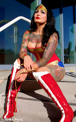 Alyssa Anne as Tattooed Wonder Woman