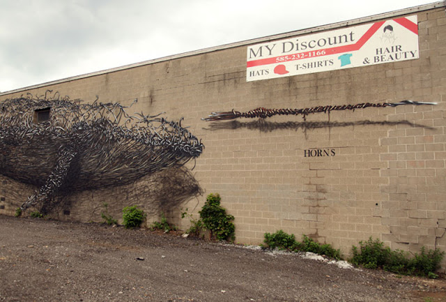 Twisted Metal Street Art Murals by DALeast