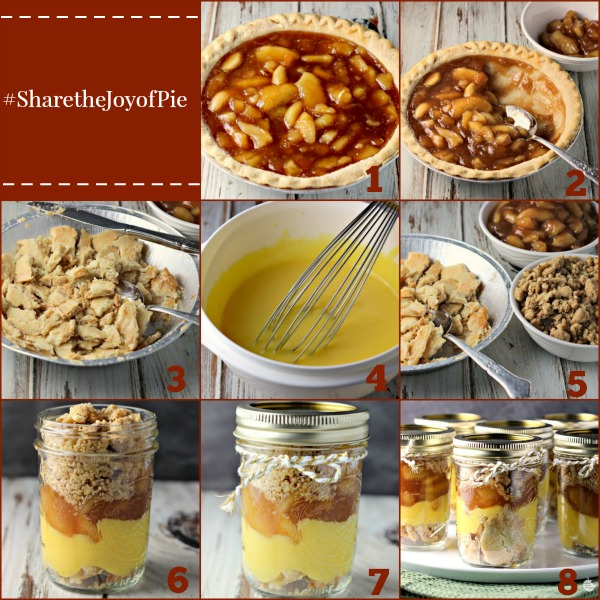 Easy Apple Pie Parfait Jars | by Renee's Kitchen Adventures - Easy recipe for a fun way to enjoy pie!  Serve on a buffet or give as a gift! #SharetheJoyofPie ad