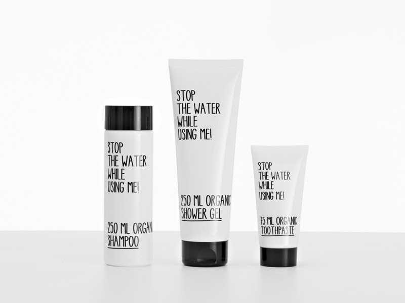 packaging de The stop the water while using me!