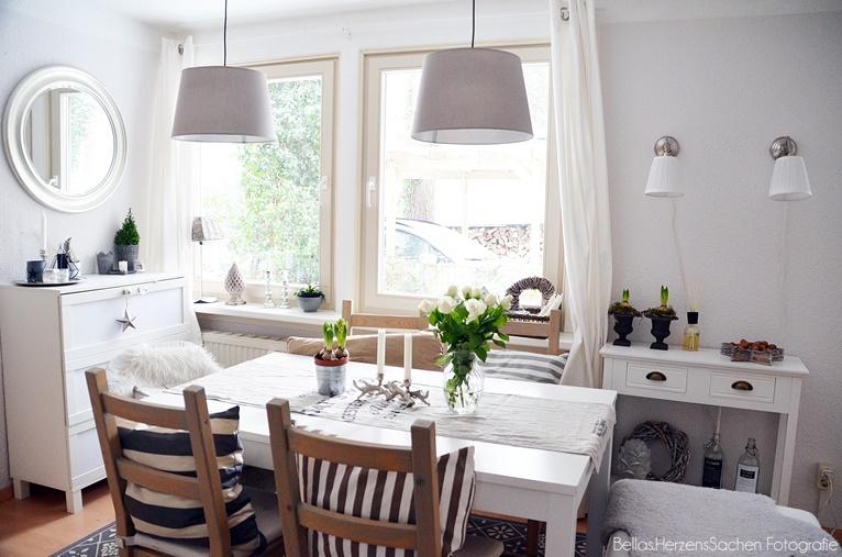 Blog, Interieur, Esszimmer, living, wohnen, hell, weiß
