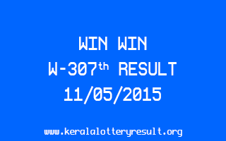 WIN WIN W 307 Lottery Result 11-5-2015