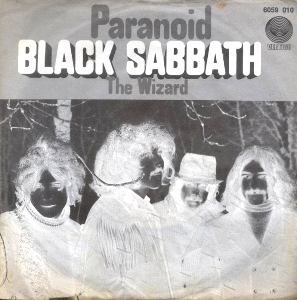 Portada del single Paranoid de Black Sabbath