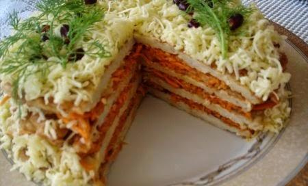 Рецепт закусочного торта фото