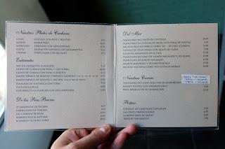 Меню мадридского гастробара баскской кухни La Alacena de Víctor Montes