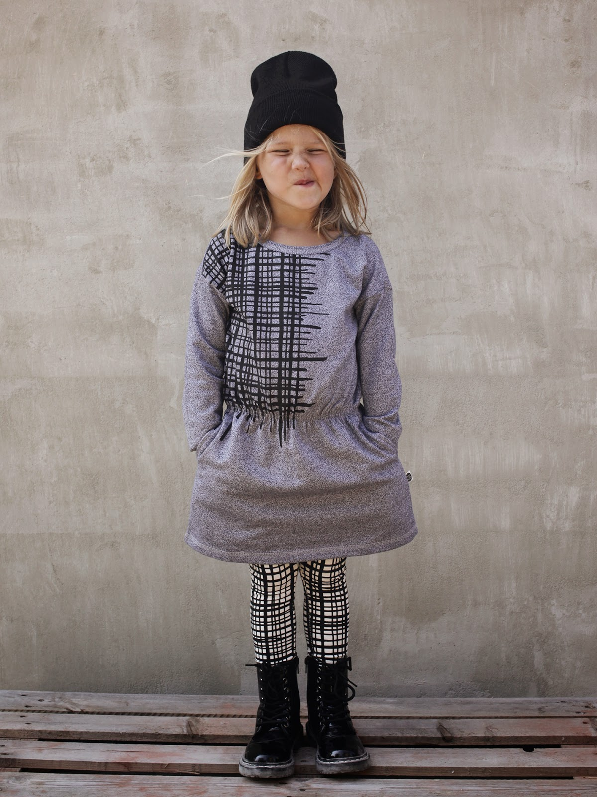 Girls' monochrome look by Mainio Clothing for autumn 2014 collection