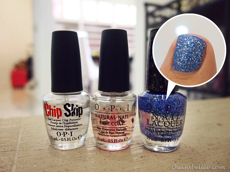 OPI nail products Chip Skip, Natural Nail Base Coat and Nail Lacquer