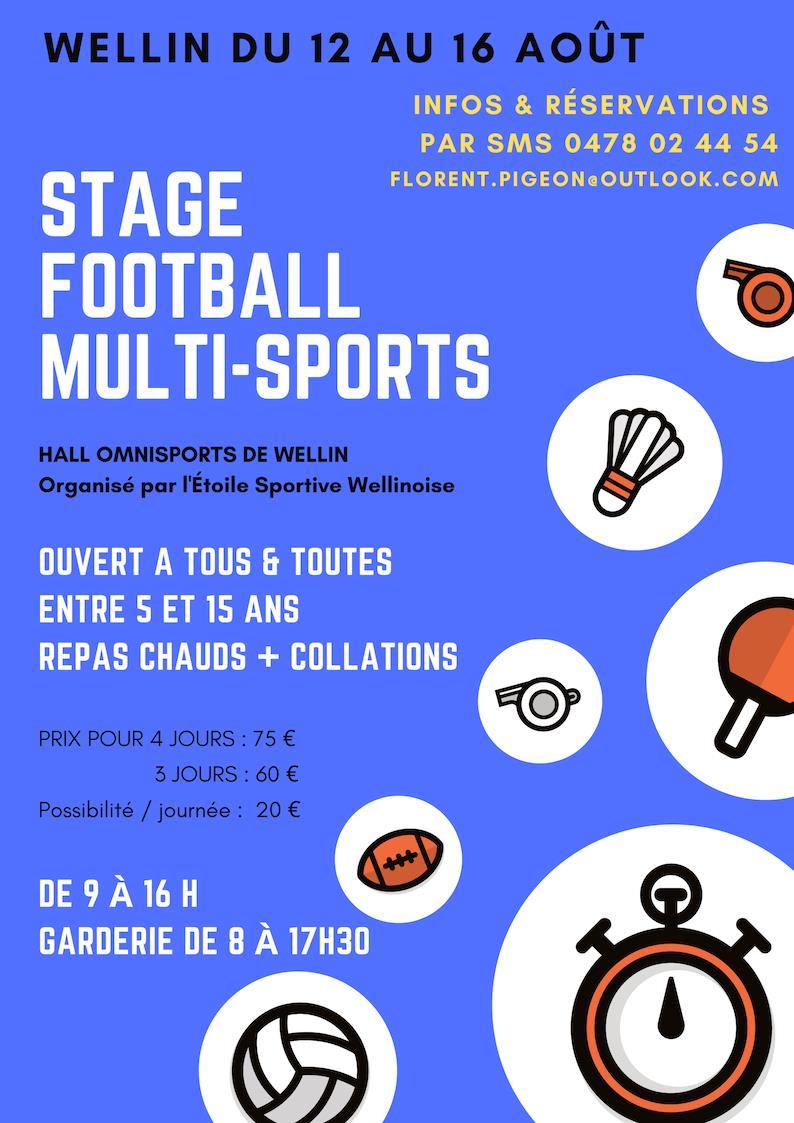 Stage de foot 12 au 16 Août