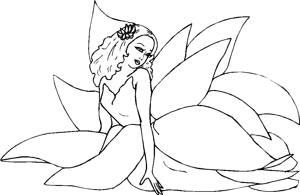 Flower Fairies Coloring Pages - Flower Coloring Page
