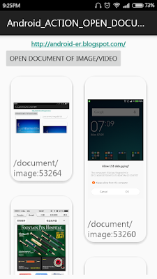 Intent.Action_Open_Document To Charge Images Inward Recyclerview + Cardview