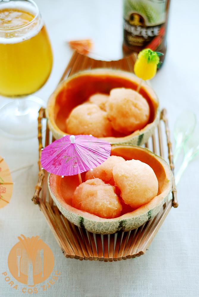 Sorbet z melonem i ananasem