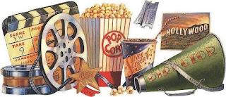 imagen vintage con objetos de cine