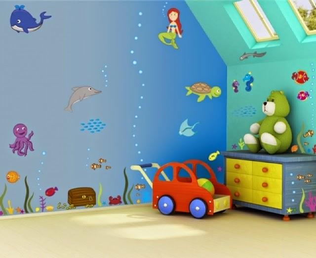 unique wall paint ideas for children's rooms
