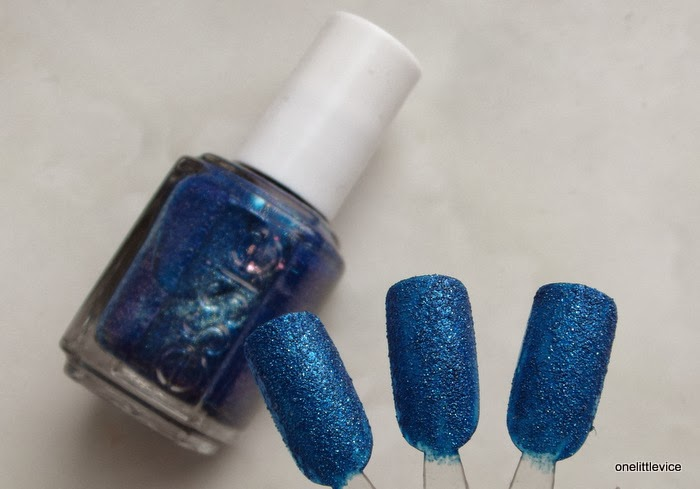 review swatches essie lots of lux textured blue