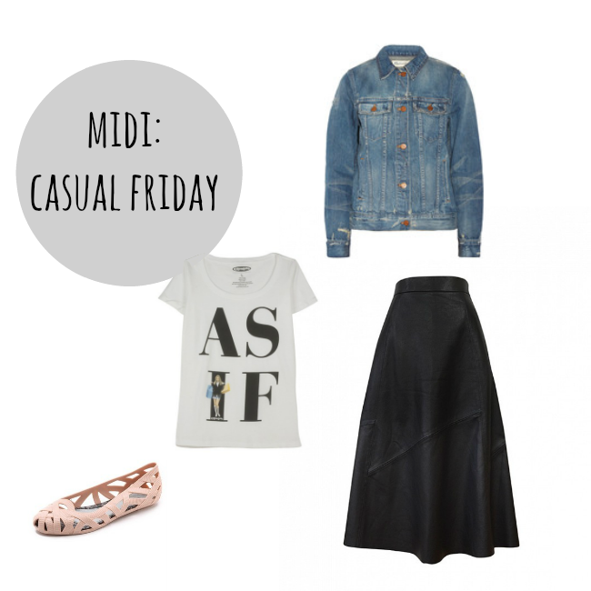 the midi skirt for casual outfit