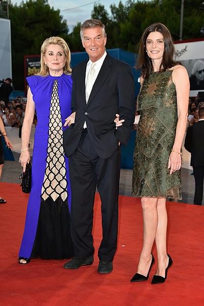Catherine Deneuve, Benoit Jacquot and Chiara Mastroianni _Venice 2014