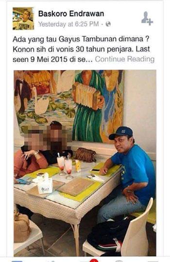 Foto Heboh Gayus Tambunan di Restoran