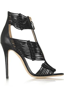 Jimmy Choo black high heeled sandals