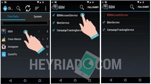 Menonaktifkan BBM Android Sementara