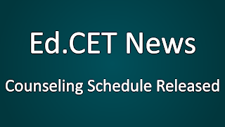 EDCET Counseling Schedule Released News