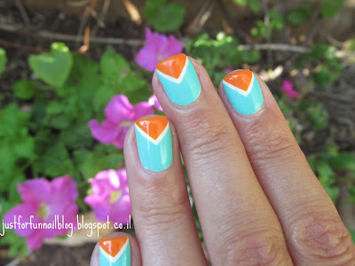 Gade - 424 Orange Poppy & China Glaze - Too Yacht to Handle striping tape