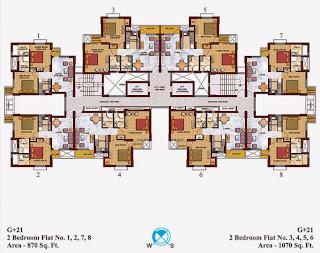 Czar Suites :: Floor Plans:-Cluster Plan for Nicolas – 1 & 2