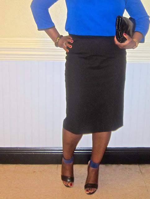 Cobalt blue tunic, nine west look global, Ankle strap sandals