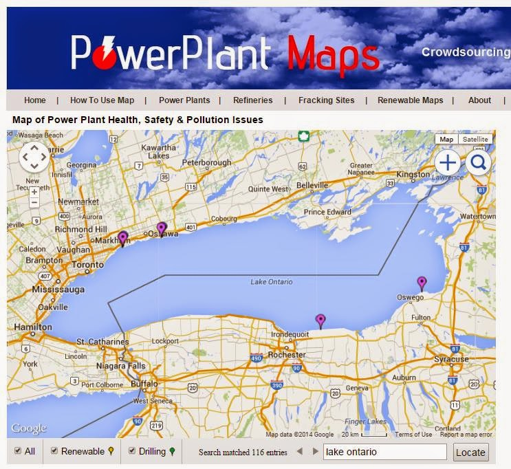 Power Plant Maps Lake Ontario Has Nuclear Power Plants - Us map of nuclear power plants