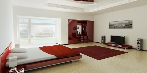 Desain Interior Kamar Tidur Minimalis Sederhana