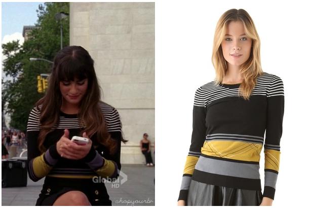 Shop Your TV: Glee: Season 4 Episode 1 Rachel's Black Yellow and ...