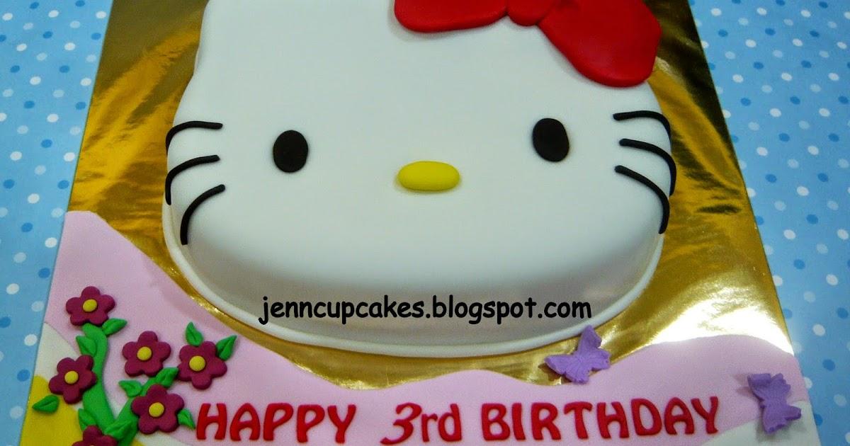 Jenn Cupcakes & Muffins: Hello Kitty Face Cake