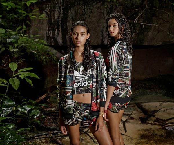 Adidas Originals e Farm jaquetas tops e shorts Terceira coleção outono inverno 2015