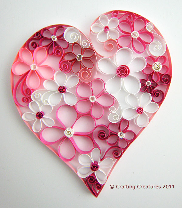 Heart Full of Paper Quilled Flowers
