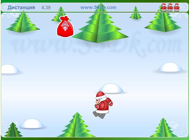 Летящий Дед мороз - игра