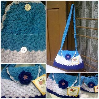 Tas Rajut 3 Warna, crochet bag, tas rajut tangan, cara membuat tas rajut, pola rajutan