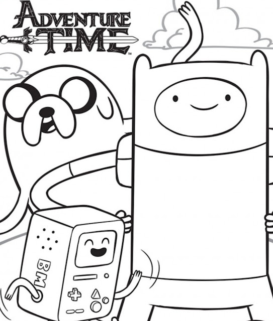 Adventure Time | Coloringdraw