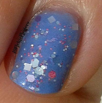 Glitzology Cotton Candy Close Up on Finger