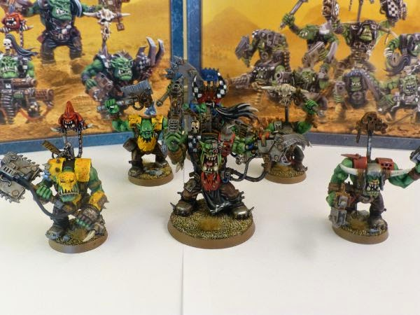 40k ork warboss and nobz group