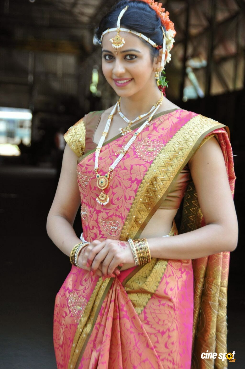 3d wallpaper] rakul preet singh in beautiful saree hd wallpaper free