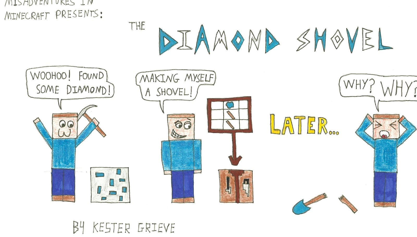 minecraft the diamond shovel - Minecraft Papercraft Diamond