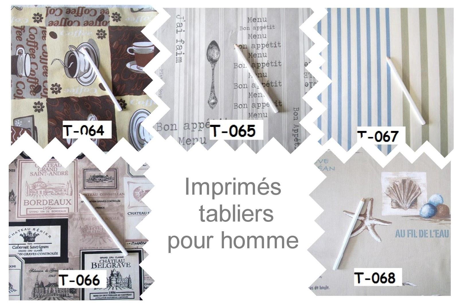 la compagnie des tabliers de nouveaux tissus pour homme. Black Bedroom Furniture Sets. Home Design Ideas