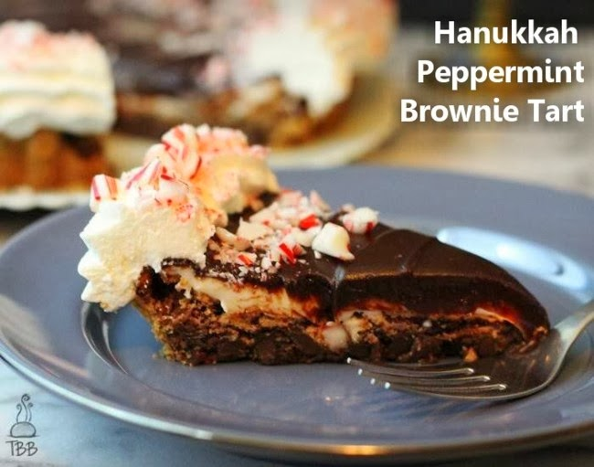 Hanukkah Peppermint Tart #dessert #pie #tart #peppermint #holiday
