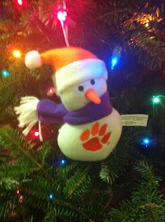 clemson snowman ornament