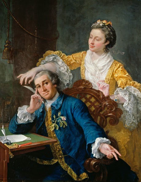 William Hogarth.- David Garrick and his Wife, Eva-Maria Veigel, 1757-64