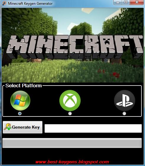 download key generator minecraft pc