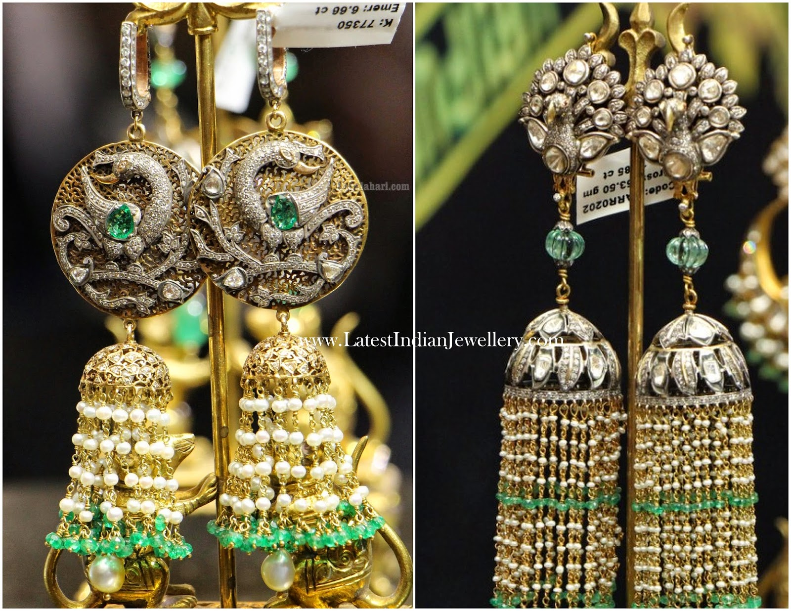 Victorian Diamond Long Jhumkas