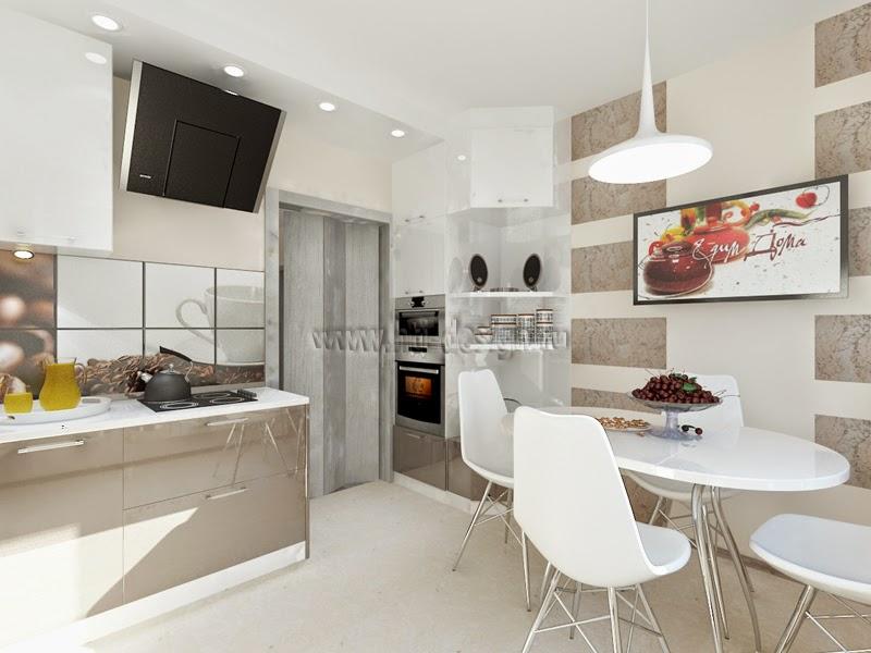 Дизайн интерьера 2-комнатной квартиры (60 кв.м)